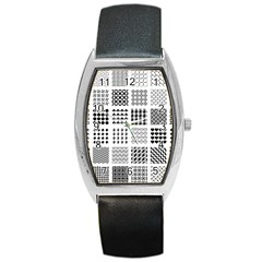 Retro Patterns Barrel Style Metal Watch