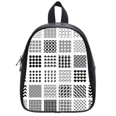 Retro Patterns School Bags (small)  by Nexatart