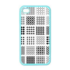 Retro Patterns Apple Iphone 4 Case (color)