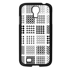 Retro Patterns Samsung Galaxy S4 I9500/ I9505 Case (black) by Nexatart