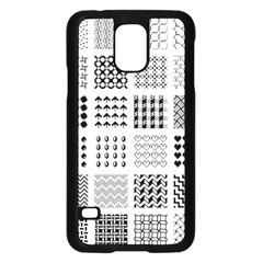 Retro Patterns Samsung Galaxy S5 Case (black)