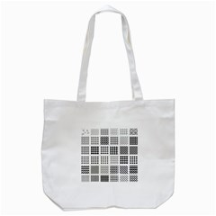 Retro Patterns Tote Bag (white)