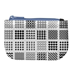 Retro Patterns Large Coin Purse