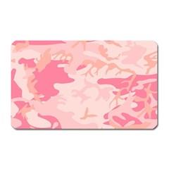 Pink Camo Print Magnet (rectangular) by Nexatart