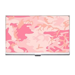 Pink Camo Print Business Card Holders by Nexatart