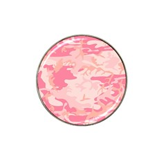Pink Camo Print Hat Clip Ball Marker