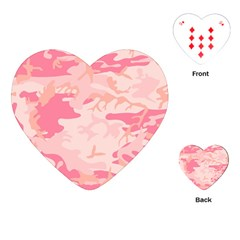 Pink Camo Print Playing Cards (heart)  by Nexatart