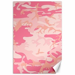 Pink Camo Print Canvas 24  X 36  by Nexatart