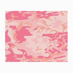 Pink Camo Print Small Glasses Cloth (2-Side) by Nexatart