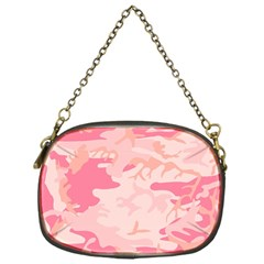 Pink Camo Print Chain Purses (one Side)  by Nexatart