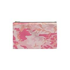 Pink Camo Print Cosmetic Bag (small)