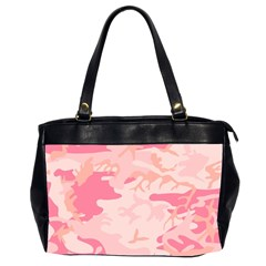 Pink Camo Print Office Handbags (2 Sides)  by Nexatart