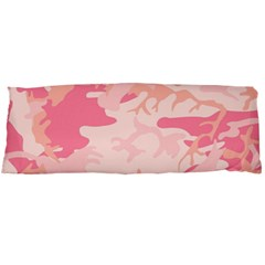 Pink Camo Print Body Pillow Case Dakimakura (two Sides) by Nexatart