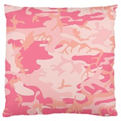 Pink Camo Print Large Cushion Case (two Sides) by Nexatart
