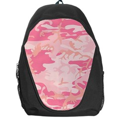 Pink Camo Print Backpack Bag