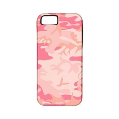 Pink Camo Print Apple Iphone 5 Classic Hardshell Case (pc+silicone)
