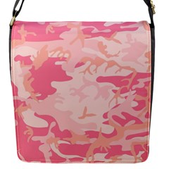 Pink Camo Print Flap Messenger Bag (s)