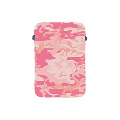 Pink Camo Print Apple Ipad Mini Protective Soft Cases by Nexatart