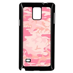 Pink Camo Print Samsung Galaxy Note 4 Case (black) by Nexatart