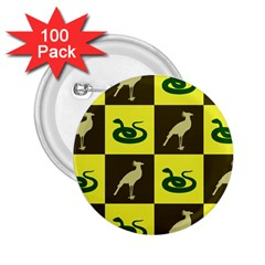 Bird And Snake Pattern 2 25  Buttons (100 Pack)