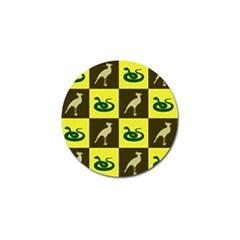 Bird And Snake Pattern Golf Ball Marker (4 Pack)