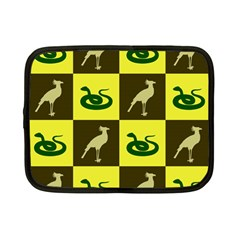 Bird And Snake Pattern Netbook Case (small)  by Nexatart