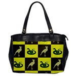 Bird And Snake Pattern Office Handbags Front
