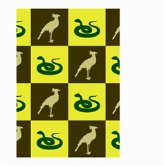 Bird And Snake Pattern Small Garden Flag (two Sides)