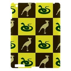 Bird And Snake Pattern Apple Ipad 3/4 Hardshell Case by Nexatart