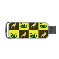 Bird And Snake Pattern Portable Usb Flash (two Sides)