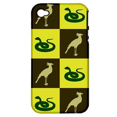 Bird And Snake Pattern Apple Iphone 4/4s Hardshell Case (pc+silicone)