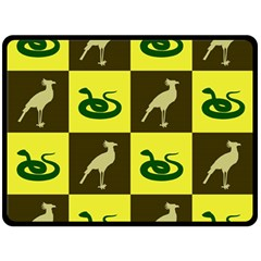 Bird And Snake Pattern Double Sided Fleece Blanket (large)