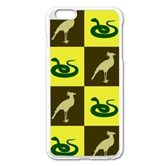 Bird And Snake Pattern Apple Iphone 6 Plus/6s Plus Enamel White Case by Nexatart