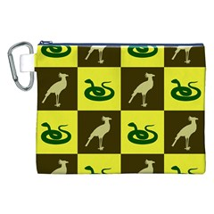 Bird And Snake Pattern Canvas Cosmetic Bag (xxl) by Nexatart