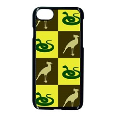 Bird And Snake Pattern Apple Iphone 7 Seamless Case (black) by Nexatart