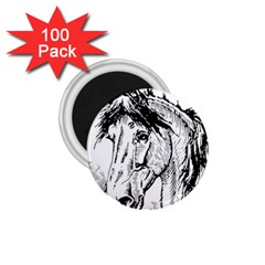 Framed Horse 1 75  Magnets (100 Pack)  by Nexatart