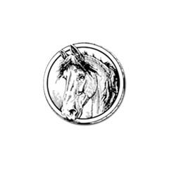 Framed Horse Golf Ball Marker (4 Pack)