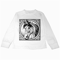 Framed Horse Kids Long Sleeve T Shirts