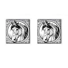 Framed Horse Cufflinks (square)