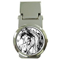 Framed Horse Money Clip Watches by Nexatart