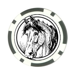 Framed Horse Poker Chip Card Guard