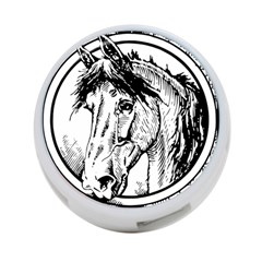 Framed Horse 4 Port Usb Hub (two Sides)  by Nexatart