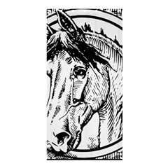 Framed Horse Shower Curtain 36  X 72  (stall)  by Nexatart