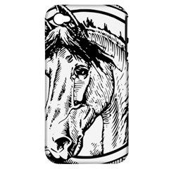 Framed Horse Apple Iphone 4/4s Hardshell Case (pc+silicone)