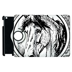 Framed Horse Apple Ipad 3/4 Flip 360 Case by Nexatart