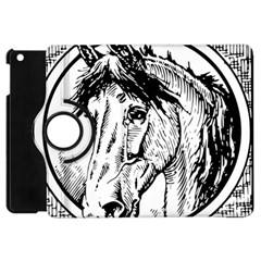 Framed Horse Apple Ipad Mini Flip 360 Case