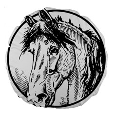 Framed Horse Large 18  Premium Round Cushions by Nexatart