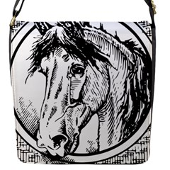 Framed Horse Flap Messenger Bag (s)