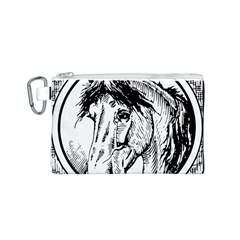 Framed Horse Canvas Cosmetic Bag (s) by Nexatart