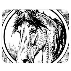 Framed Horse Double Sided Flano Blanket (medium)  by Nexatart